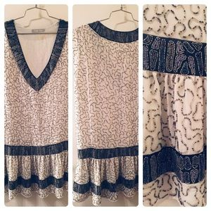 Fully beaded flapper dress